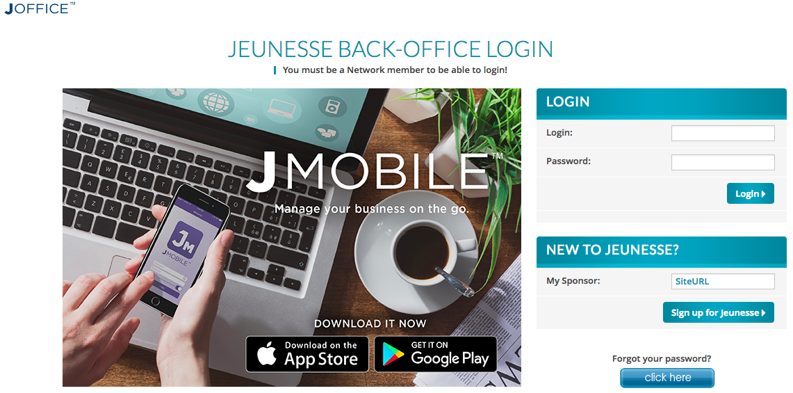 JEUNESSE BACK-OFFICE LOGIN